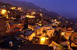 Jiufen at night , village in Taiwan