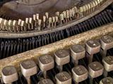 Very old typewriter Thai keys