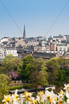 A view of Edinburgh Princes Street