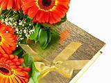 gerberas with giftbox