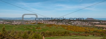 A panoramic view of Edinburgh from the Pentlands