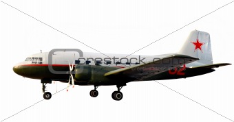 world war two lend-lease retro propeller airplane dc-3 or li-2
