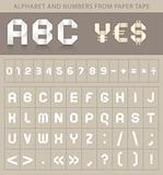 ABC font from paper tape