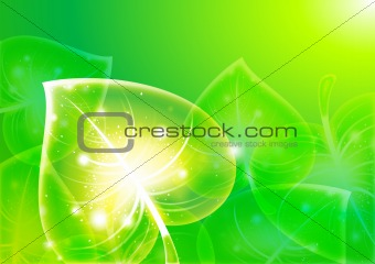 Abstraction leaf-background 10 eps