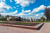 Belarus nice Vitebsk spring landscape view World war two victory