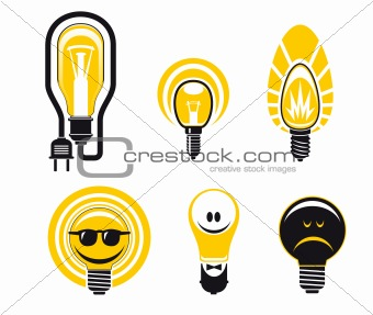 Light bulbs symbols