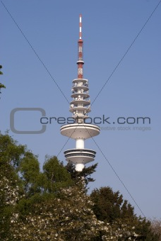 Sky blue Broadcasting Tower