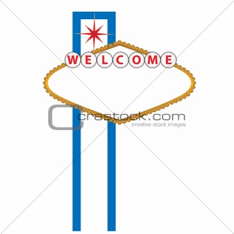 Blank Las Vegas sign