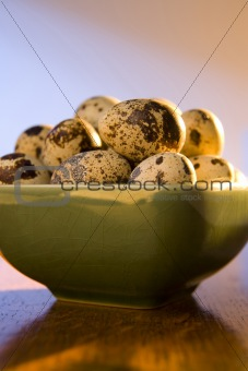 Bowl of quail eggs