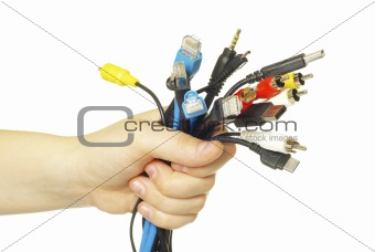 cables in hand