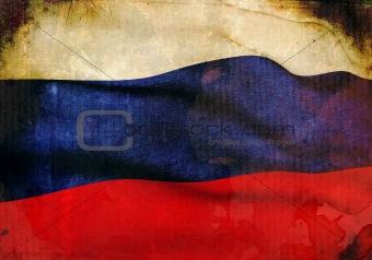 Grunge Russian Flag