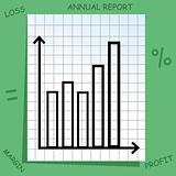 graph with mathematics icons