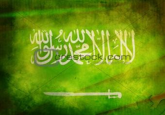 Grunge Saudi Arabian Flag