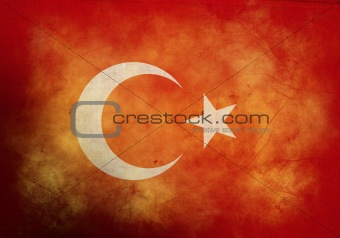 Grunge Turkish Flag
