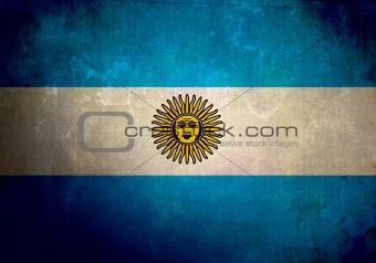 Grunge Argentina Flag