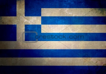 Grunge Greece Flag