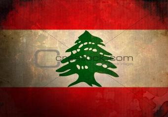 Grunge Lebanon Flag