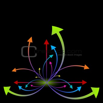 growing colorful arrows