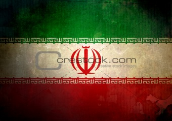 Grunge Iran Flag