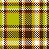 Seamless checkered green orange brown vector pattern