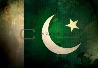 Grunge Pakistan Flag