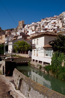 Alcala del Jucar (Albacete) rural town, top 100 most beautiful villages in Spain