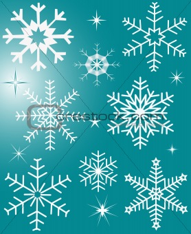 Abstract  winter  background decor illustration