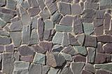 Rock wall or path - purple grey slate