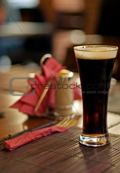dark beer glass