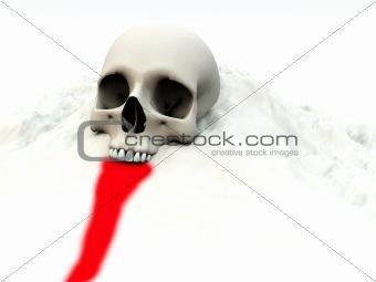 Skull In White 76