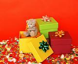merry birthday celebration and present