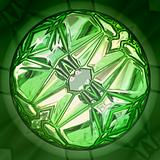 Green precious stone