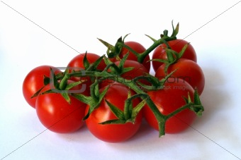 group of fresh cherry tomato
