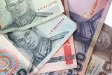 thai baht closeup