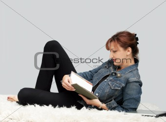 Casual woman relaxing
