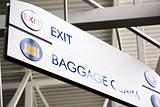 Baggage Claim & Exit Sign