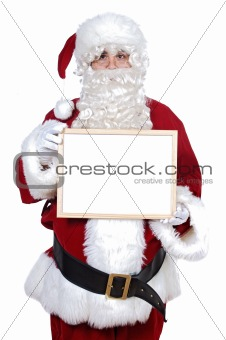 Santa Claus whit billboard