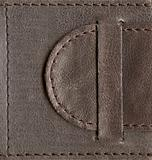 brown textured leather lock