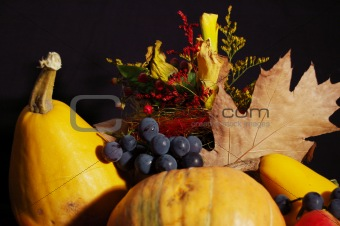 Autumn pumpkin composition