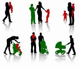 Silhouettes of parents. Part 6