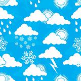 Weather seamless pattern, vector
