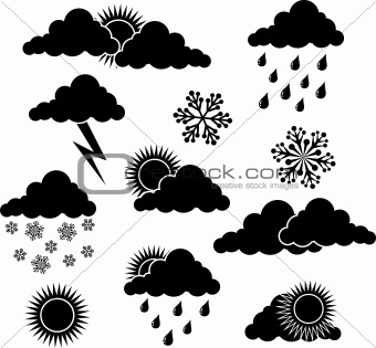 Weather elements for design, vector