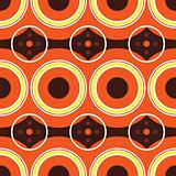 sixties orange retro