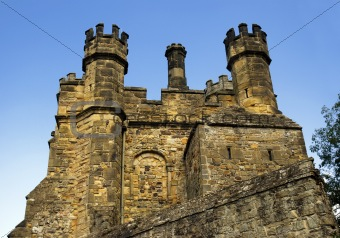 castle wall and battlements