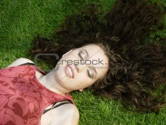 Beautiful girl sleeping