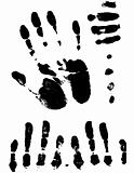 Vectorized Hand Prints and Smeers