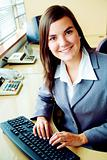 Business accountant portrait in an office
