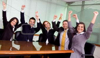 business success - team at the office