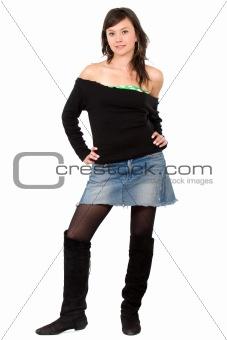 fashion girl standing