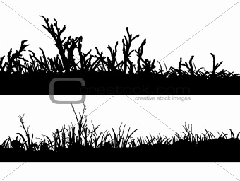 2 Landscapes in silhouette